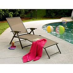 Garden Oasis -Grandview Folding Chaise Lounge