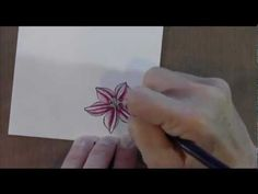 Inktense Pencil Flower neat punch way to make vase, stem and leaf.