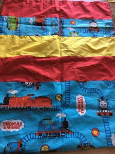 A personal favorite from my Etsy shop https://www.etsy.com/listing/267214419/thomas-train-pillow-case