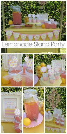 What a great way to celebrate summer with this lemonade stand party! See more party ideas at CatchMyParty.com.