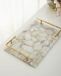 Gorgeous agate tray