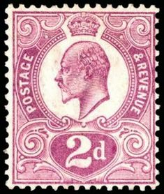The Tyrian Plum is one of the most celebrated postage stamps of Great Britain and a key stamp in any rare stamp investment portfolio. Issued in May 1910 the Uk Stamps, Rare Stamps, Vintage Stamps, Royal Mail Stamps, Vintage Ephemera, Stamp Values, Value Of Stamps, Stamp Auctions, Penny Black