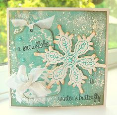 Thick Material Medium Design Set Tag Intricate Shape Medium Design Set Snowflake with a frosting of Frantage.