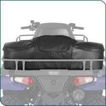 New Genuine Polaris ATV Accessories / Polaris Sportsman XP Semi-Rigid Touring Cargo Bag / Pt # 2877220  This large-capacity bag has three zippered openings and removable dividers so you can customize its interior compartments. It is made of heavy duty vinyl, attaches without tools using Velcro straps, and it works with the rear rack extenders in place. Fits Model Year 2008-2013 Sportsman Touring 500/800 Fits Model Year 2008-2013 Sportsman Touring 500/800 Fits Model Year 2008-2013 Spo..
