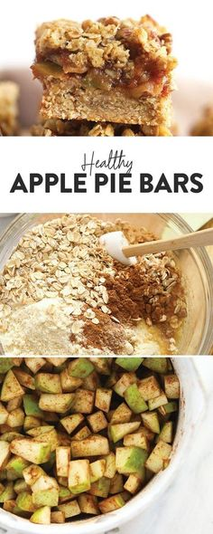 You are going to love these Healthy Apple Pie Bars. They're made with a delicious green apple filling and a buttery sugar cookie crust. #applepiebars #appledessert Apple Pie Oatmeal, Apple Pie Bars, Strawberry Oatmeal Bars, Blueberry Crumble Bars, Apple Pie Cookies, Apple Muffins, Apple Crisp, Oatmeal Cookies, Green Apple Recipes