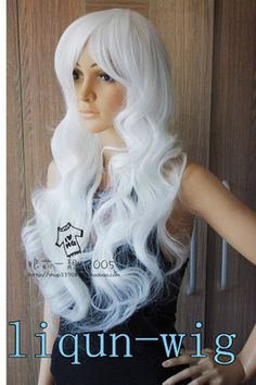 New womens white long curly cosplay hair wig gift White Queen Costume, Cosplay Hair, Vogue Fashion, Long Curly, Wig Hairstyles, Alice In Wonderland, Wigs, Costumes, Women