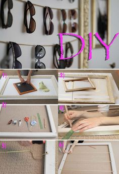 DIY Perfect Sunglass Showcase! Video tutorial to the link.  | www.LifeAnnStyle.com