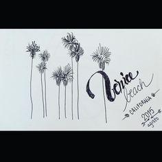 No dia do meu aniversário eu desenhei Rough de Férias #venicebeach #california #handmade #handpainted #beach #roughsketch by clodeimperial