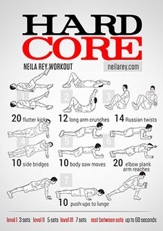 Hard Core - Neila Rey workout - neilarey.com