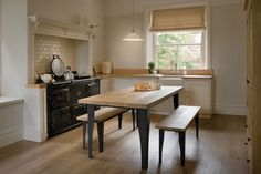 The Oak Brunel Table, handcrafted by Indigo Furniture Metal Leg Dining Table, Plank Table, Wooden Dining Tables, Dining Room Table, Dining Rooms, Indigo Furniture, Dining Room Furniture, Kitchen Seating, Wood Counter