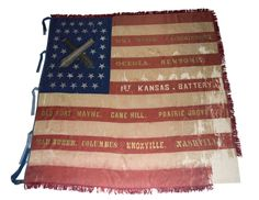 Battle flag, Kansas Museum of History American Civil War, American Flag, American History, Civil War Flags, Union Flags, War Image, Civil War Photos, Guerrilla, Historical Society