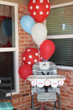 1st birthday red  | Little Red Wagon 1st Birthday Party