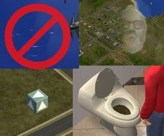 Mod mix: No water sparkle, Great Leader rainbow, brown toilet water, teal grab…