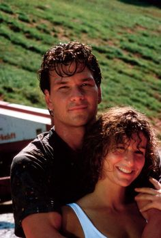 Dirty Dancing/••••Patrick Swayze and ??.  When they were practicing her leaf I the lake he sustained an injury that hampered him for the rest of his life.  Gossip said these two didn't get along during filming, but if that was true they covered it well.