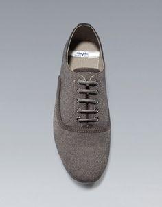 SLIM FABRIC OXFORD SHOE - Shoes - Shoes - Man - ZARA United States