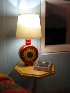 DIY lamp from  painted wooden beads
