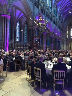 Magna Carta dinner at Lincoln Cathedral.