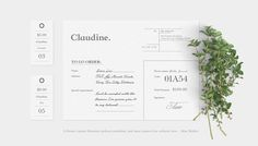 Claudine Brand identity - see more on be.net/elrendir
