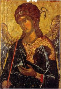 Eastern orthodox icon of Archangel Gabriel, icon of 14 cent. Byzantine Icons, Byzantine Art, Religious Icons, Religious Art, St Michael, Russian Icons, Religious Paintings, Sacred Art, Renaissance Art