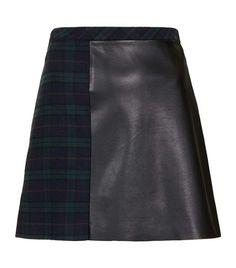 Check A-Line Skirt