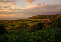 The view over the Vale of Porlock to Hurlstone Point