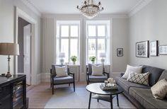 Sekelskifte vardagsrum grått