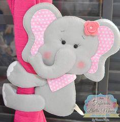 Moldes da Fofurices Bella Manu gratuito para imprimir - Como Fazer Homemade Crafts, Easy Diy Crafts, Felt Diy, Felt Crafts, Elephant Template, Felt Animal Patterns, Baby Mobile, Cute Polymer Clay, Felt Fabric