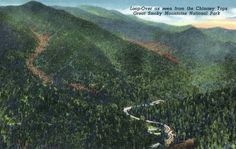 Great Smoky Mts Nat'l Park, TN - Loop-Over View from Chimney Tops