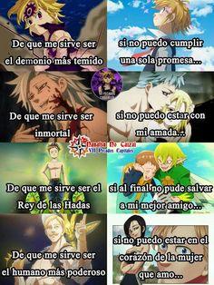Nanatsu no taizai uwu Anime Meme, Sad Anime, Otaku Anime, Kawaii Anime, Manga Anime, Seven Deadly Sins Anime, 7 Deadly Sins, Noragami, Ahri Wallpaper