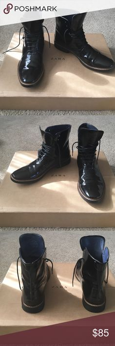 Zara Boots Zara MAN Boots. Leather Boots. Worn once. MAKE ME AN OFFER , I'm open to everything. Zara Shoes
