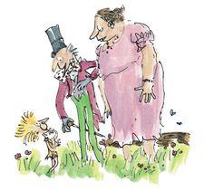 Quentin Blake illustration Quentin Blake Illustrations, Tony Ross, Small Drawings, Willy Wonka, Roald Dahl, Conte, Illustrators, English, Teaching