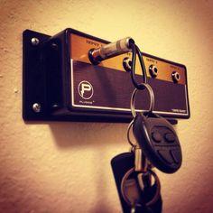 Para aquellos q aman la música !!! Muy buena idea para colgar las llaves