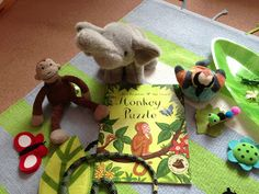 Smiling like Sunshine: Virtual Book Club for Kids: {Monkey Puzzle} Using objects (props) to tell the story Retelling Activities, Nursery Activities, Hands On Activities, Book Activities, Toddler Preschool, Preschool Activities, Reading Buddies, Story Sack, Early Years Classroom