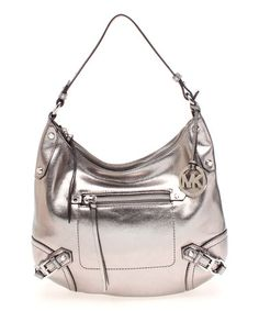 121314bb6a41 Look what I found on  zulily! Nickel Metallic Fallon Leather Hobo by MICHAEL  Michael