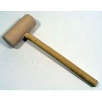 Lignum Vitae Cylindrical shaped wooden mallet for forming sheet metal, often used with a former such as an iron stake. High density Lignum Vitae head and shock absorbing cane handle. Cane Handles, Sheet Metal
