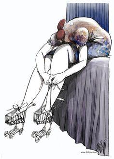 angel boligan caricature