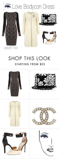 """""""Love Bodycon Dress"""" by boutiquebrowser ❤ liked on Polyvore featuring Oasis, Nancy Gonzalez, Phase Eight, Kristin Cavallari, Black Magic Lashes, under100 and phaseeight"""