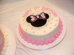 Smash cake for Ash Mini Mouse Birthday Cake, Mini Mouse Cake, Minnie Birthday, Birthday Cake Girls, Mary Birthday, Bolo Minnie, Minnie Cake, Mickey Cakes, Minnie Mouse Cake Design