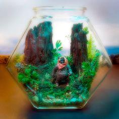 Ewok Terrarium World - Star Wars - Forest of Endor - Return of the Jedi