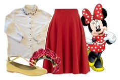 """""""Minnie Mouse"""" by aliceindisneyworld ❤ liked on Polyvore featuring LOTTA and See by Chloé"""
