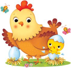 Federica Iossa - Portfolio and Books Cute Easy Drawings, Art Drawings For Kids, Drawing For Kids, Animal Drawings, Cute Doodle Art, Cute Doodles, Cute Art, Chicken Illustration, Bird Illustration