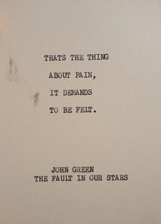 THE Fault In Our Stars: Typewriter quote on 5x7 cardstock on Etsy, $5.00