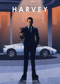 """Beautiful """"Harvey"""" metal poster created by Eden Design. Our Displate metal prints will make your walls awesome. Suits Series, Suits Tv Shows, Best Study Techniques, Harvey Specter Quotes, Eden Design, Grunge, Graphic Wallpaper, Car Posters, Movie Posters"""