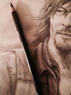pencil drawing of Daryl