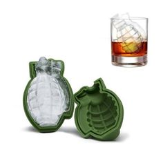 Grenade Ice Mold - Makes 1 large grenade shaped ice cube! Add a touch of explosion to your drinks and any theme parti - Diy 3d Drucker, Ice Cube Molds, Ice Cube Trays, Ice Cubes, Silicone Ice Molds, 3d Printer Designs, 3d Printer Projects, 3d Printing Diy, Tools For Sale