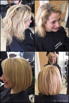 The lovely Elaine's #Restyle #Bob to make her #hair thicker & bouncier to get life back into it. Could wear it curly or straight. #hhsliverpool #Liverpool #hairdressers #hairsalon #hairstyle www.harrisonhairstudio.co.uk 0151 380 0181