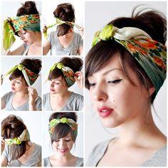 Para o Verão 2014 vá de lenço na cabeça !!