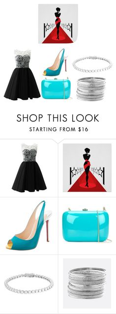 """""""Simple Red Carpet Outfit"""" by jsd13711 on Polyvore featuring Christian Louboutin, Rocio and Avenue"""