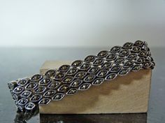 Vintage Silver Ornate Marcasite Tennis by FourSailAccessories, $86.00