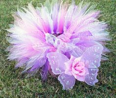 Baby Tutu Butterfly Wings - Purple Pink Lavender Tutu Set - Berry Lovely Birthday Fairy Set - Sewn 8'' Pixie Tutu - sizes up to 12 months